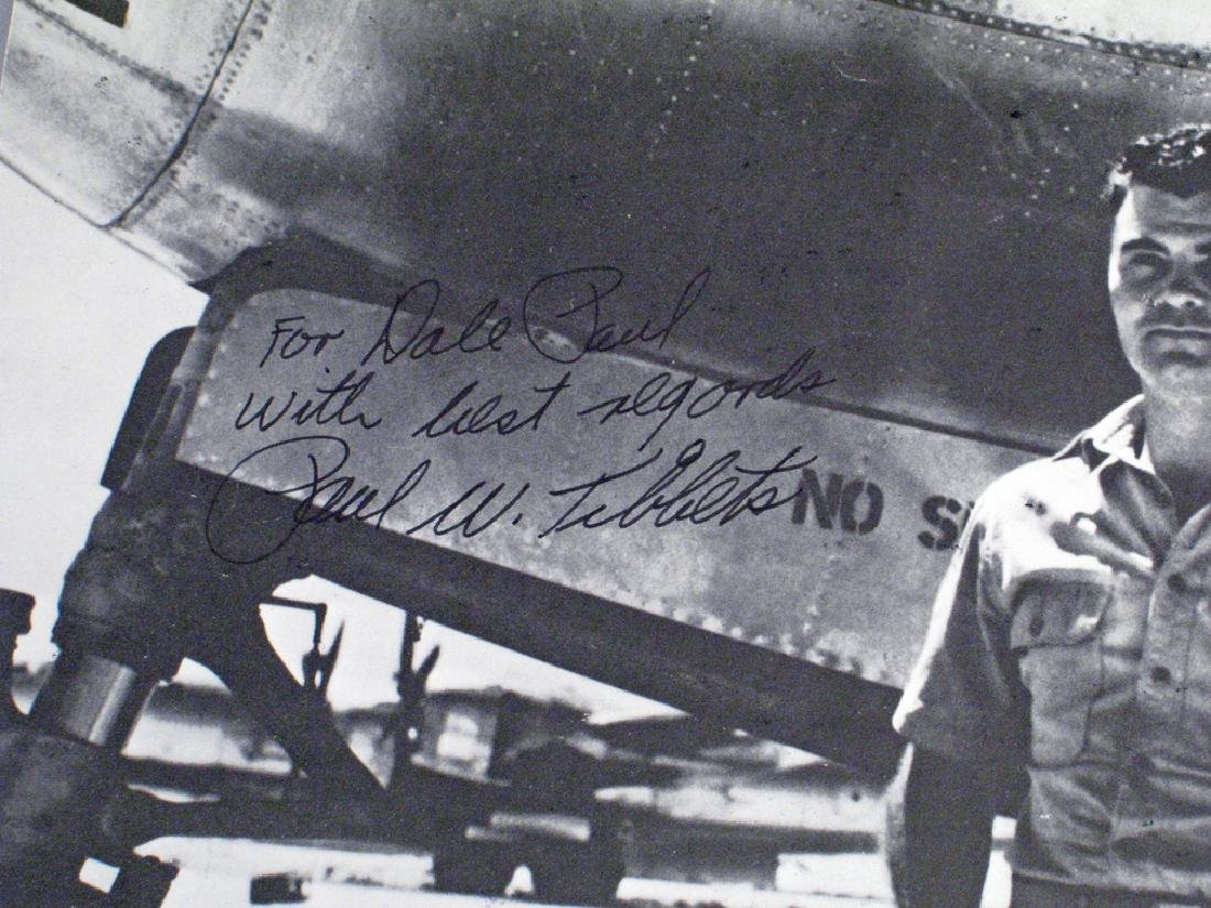 Paul Tibbits Enola Gay 1945 Hiroshima Autograph Lot - 3