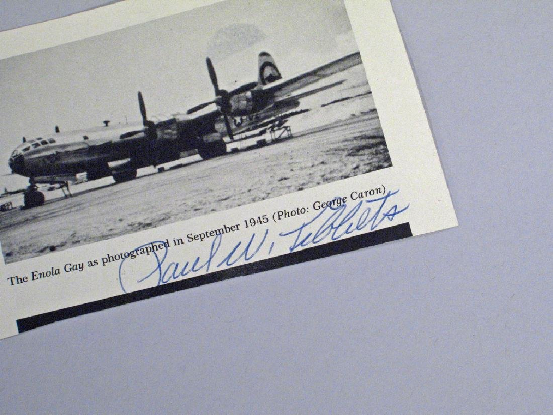 Paul Tibbits Enola Gay 1945 Hiroshima Autograph Lot - 5