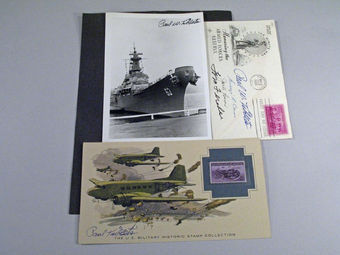 Enola Gay Crew Hiroshima Autograph Lot