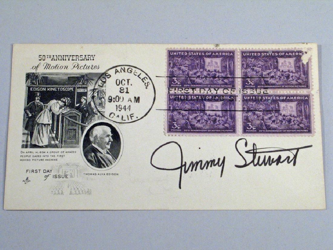 Jimmy Stewart Signed 1944 Postcard Autograph
