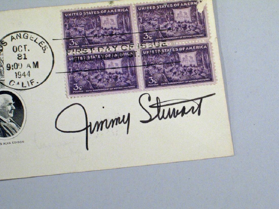 Jimmy Stewart Signed 1944 Postcard Autograph - 2