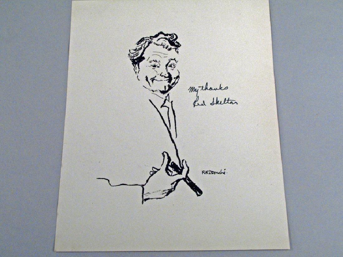 Red Skelton Artist Rendition Autograph
