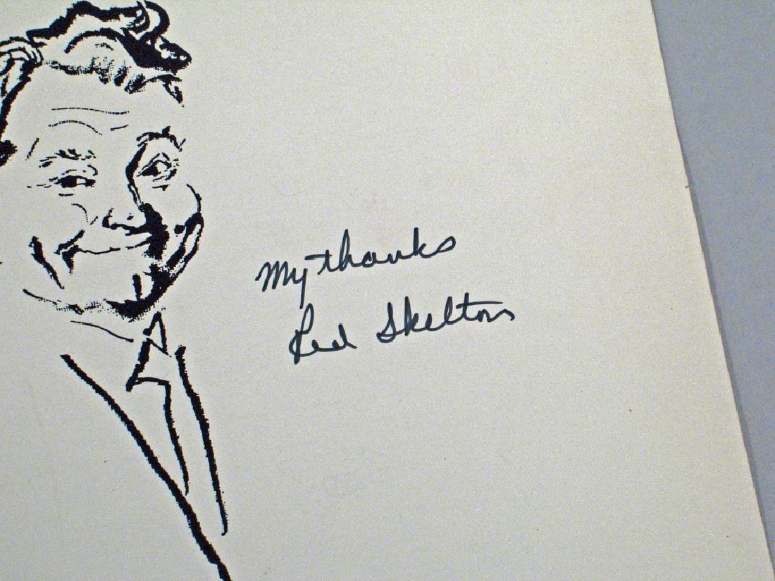 Red Skelton Artist Rendition Autograph - 2