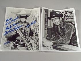 Lone Ranger Clayton Moore Autograph Lot