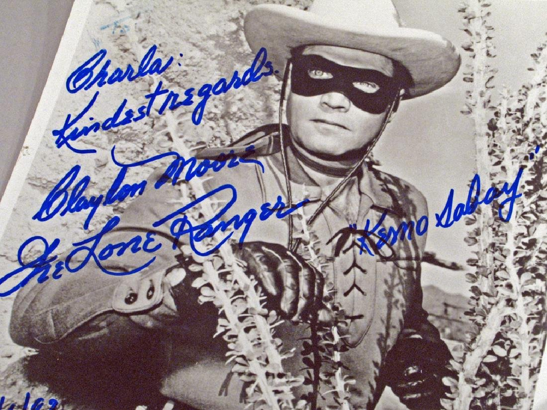 Lone Ranger Clayton Moore Autograph Lot - 2