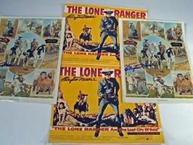 Lone Ranger Clayton Moore Jay Silverheels Autograph Lot