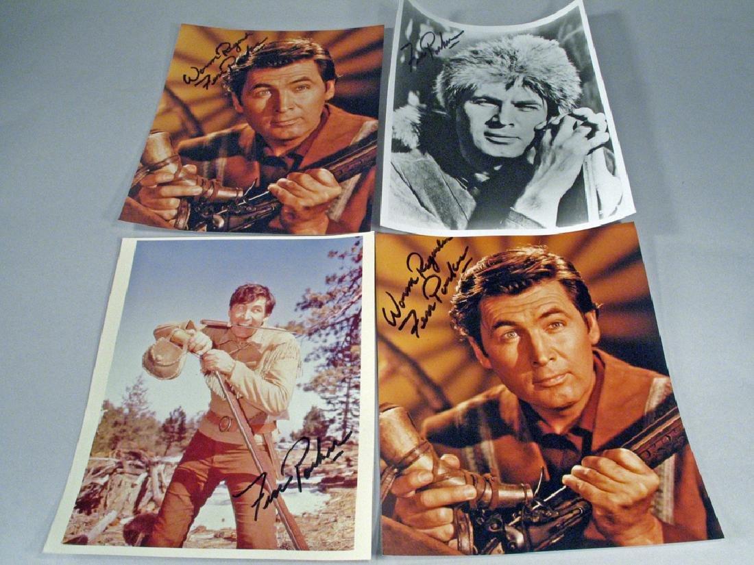 Fess Parker Daniel Boone Autograph Lot Glossy's