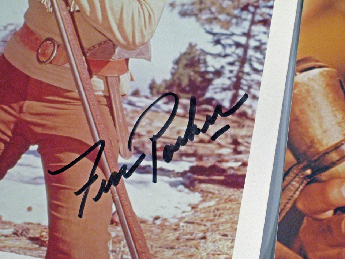 Fess Parker Daniel Boone Autograph Lot Glossy's - 2