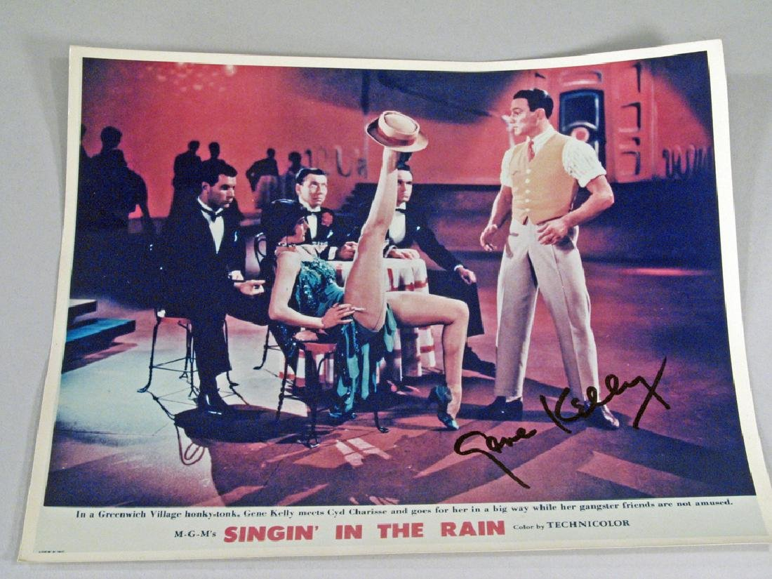 Gene Kelly Singing in the Rain 8 x 10 Glossy Autograph