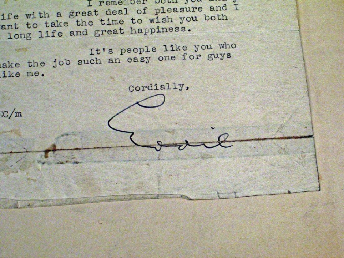 Eddie Cantor Coorespondance Letter Autograph