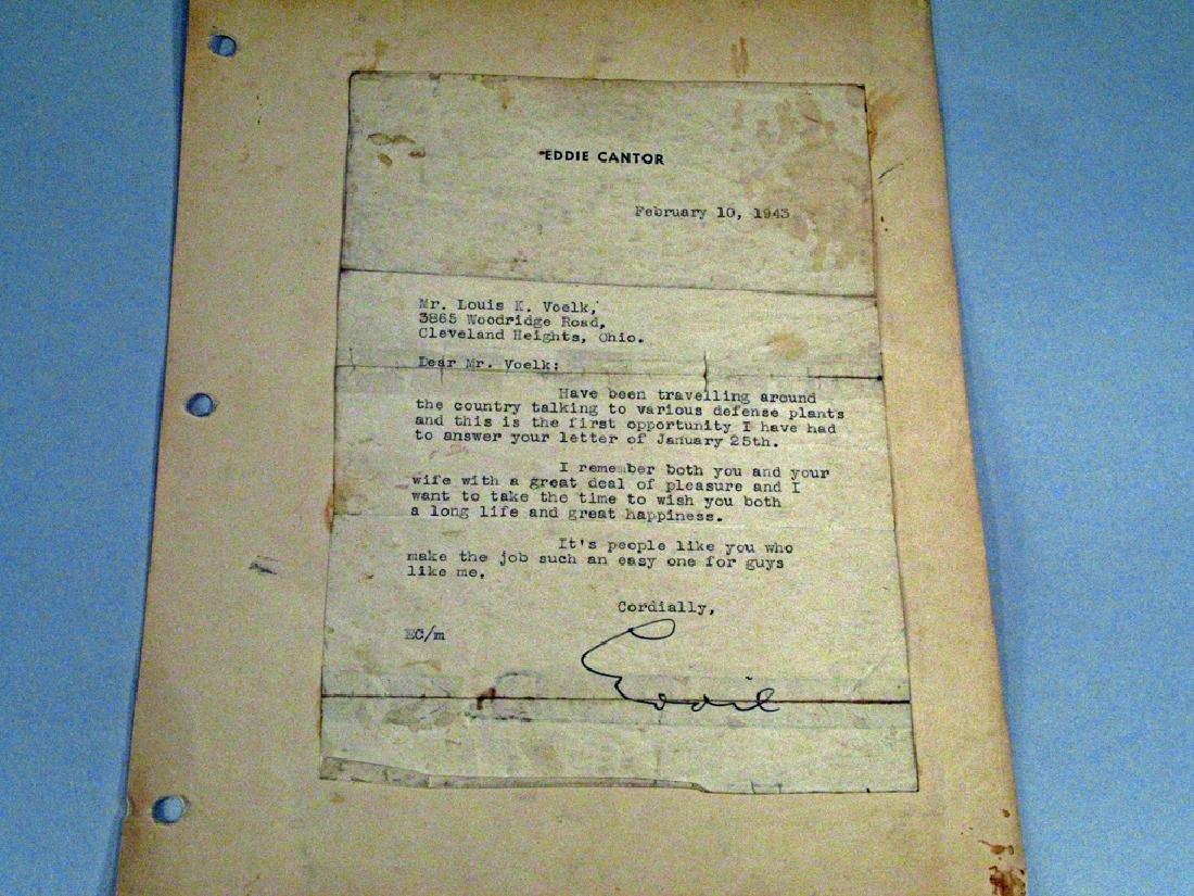 Eddie Cantor Coorespondance Letter Autograph - 2