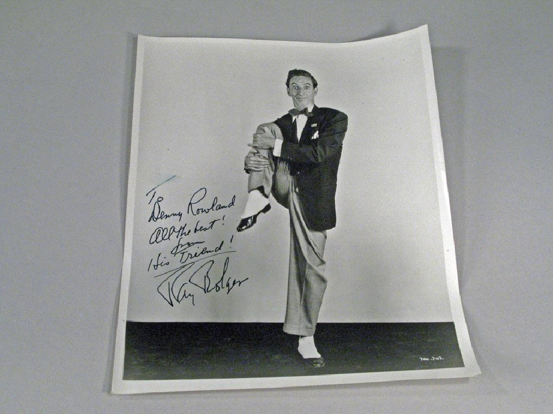 Ray Bolger Studio Photo and Cancelled Check Autograph