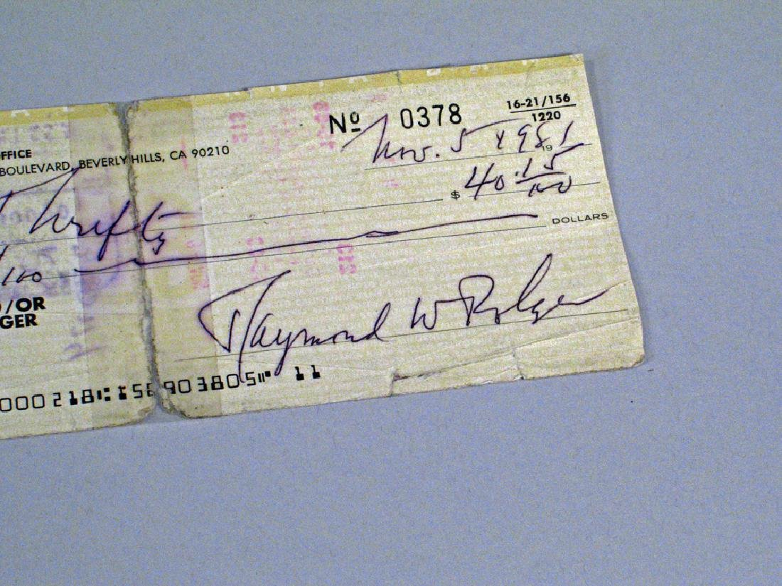 Ray Bolger Studio Photo and Cancelled Check Autograph - 4