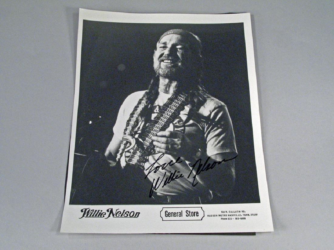 Willie Nelson Promo Photo Autograph
