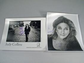 Judy Collins Promo Glossy's Autograph Lot