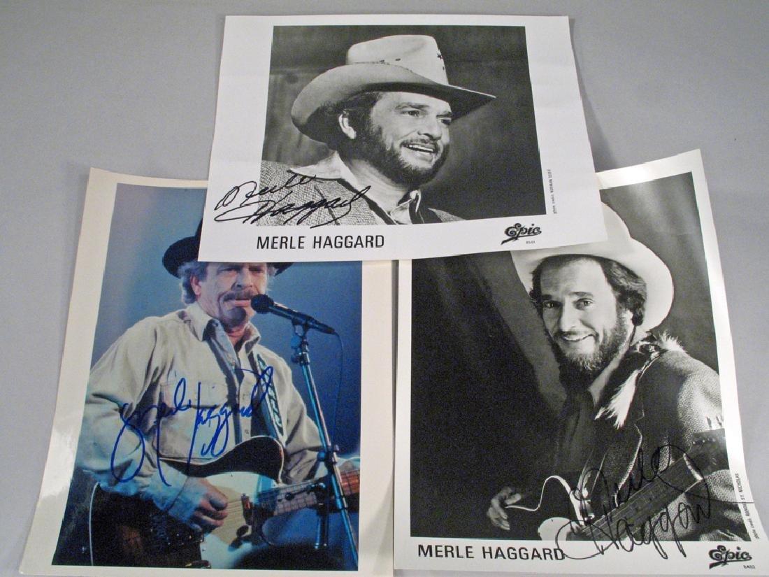 Merle Haggard Photo Glossy's Autograph Lot