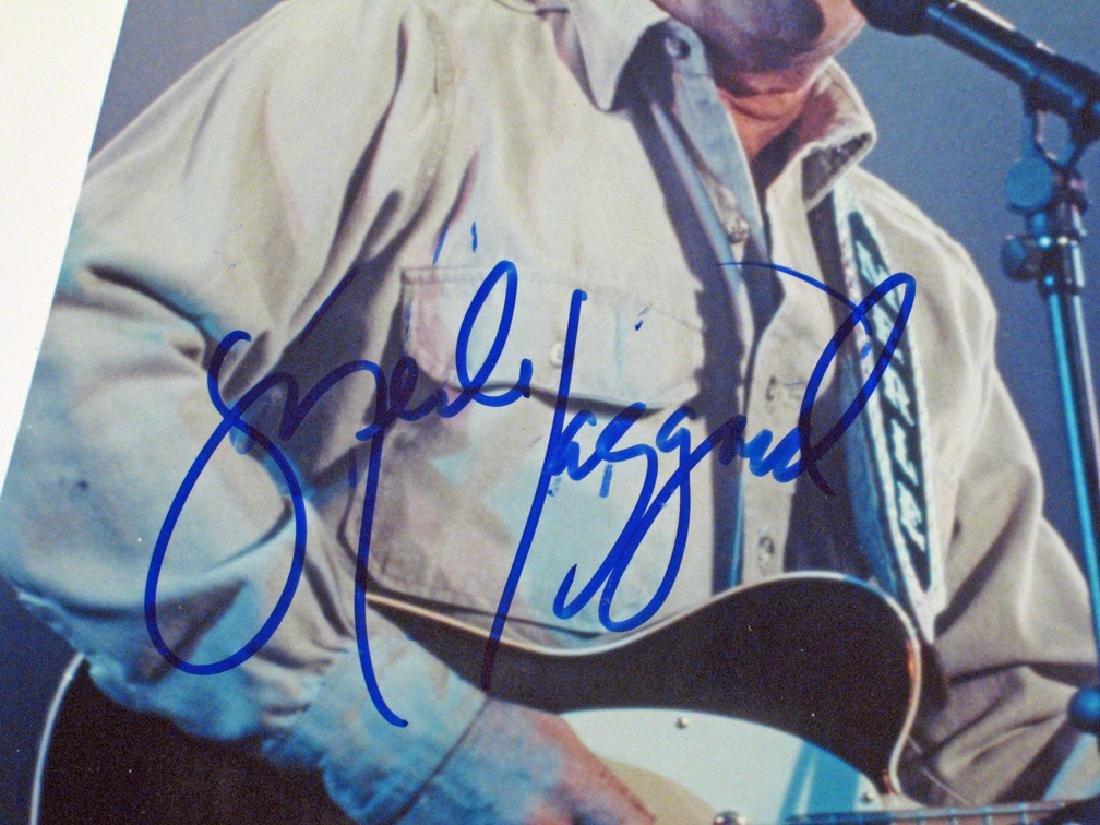 Merle Haggard Photo Glossy's Autograph Lot - 2