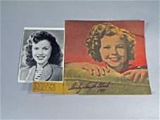 Shirley Temple Autograph Lot