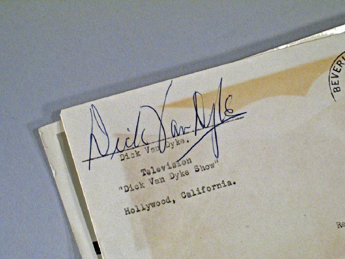 Dick Van Dyke Autograph Lot - 3