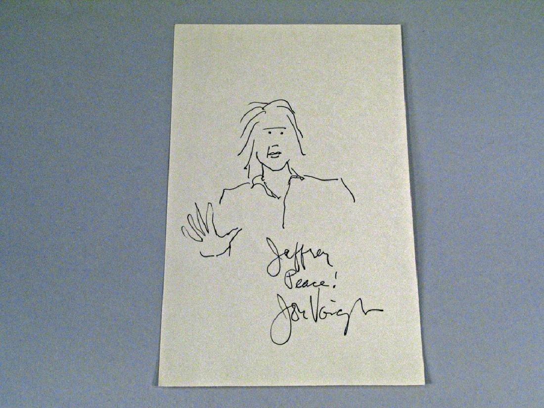 Jon Voight Hand Drawn Self Image Autograph