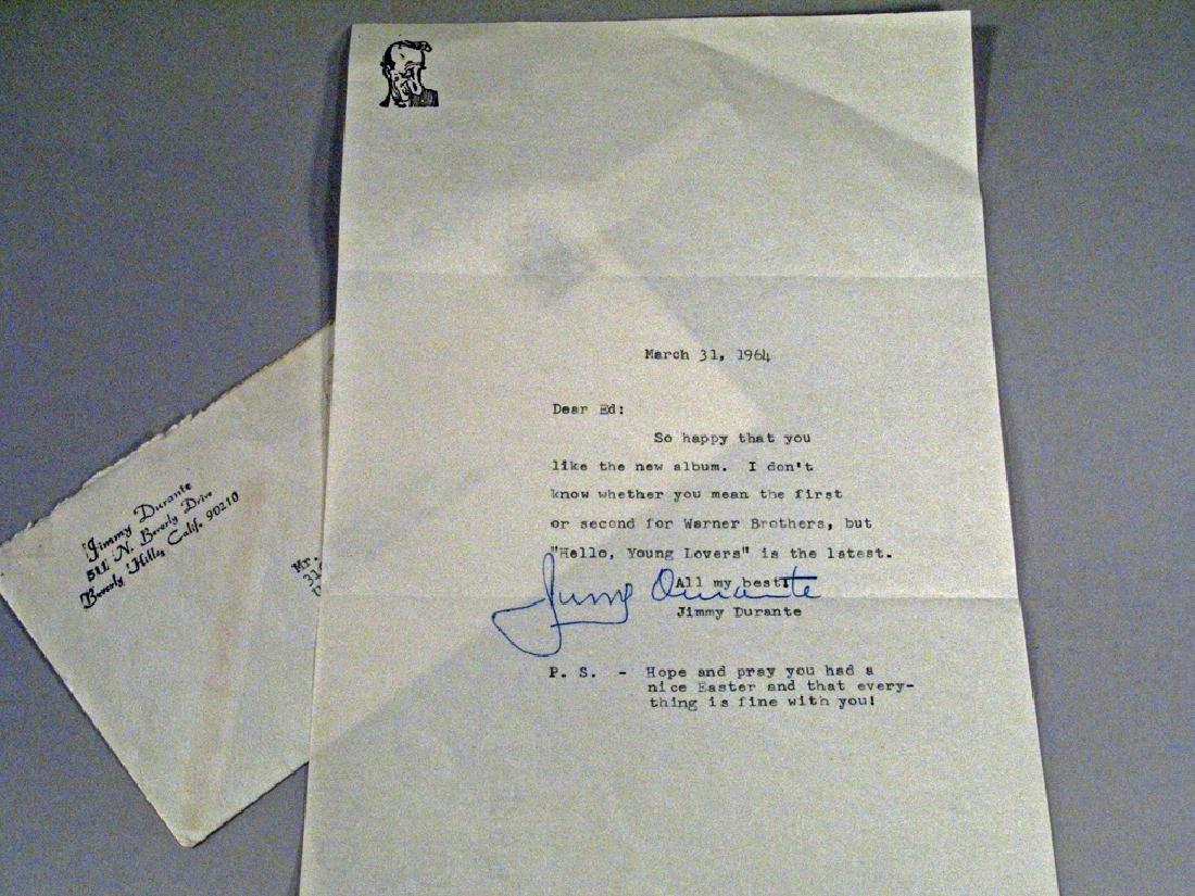 Jimmy Durante Autograph