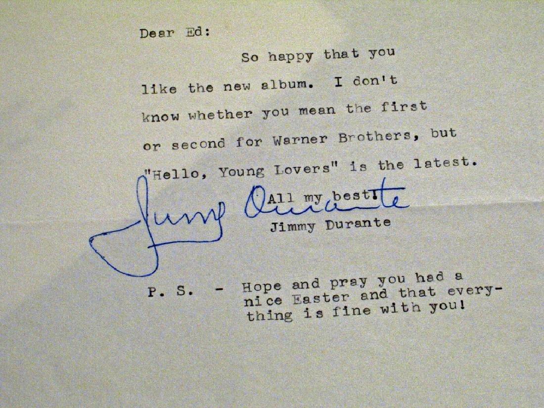 Jimmy Durante Autograph - 2