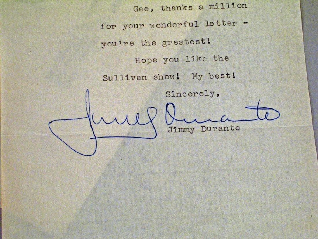 Jimmy Durante Fan Letter Autograph - 2