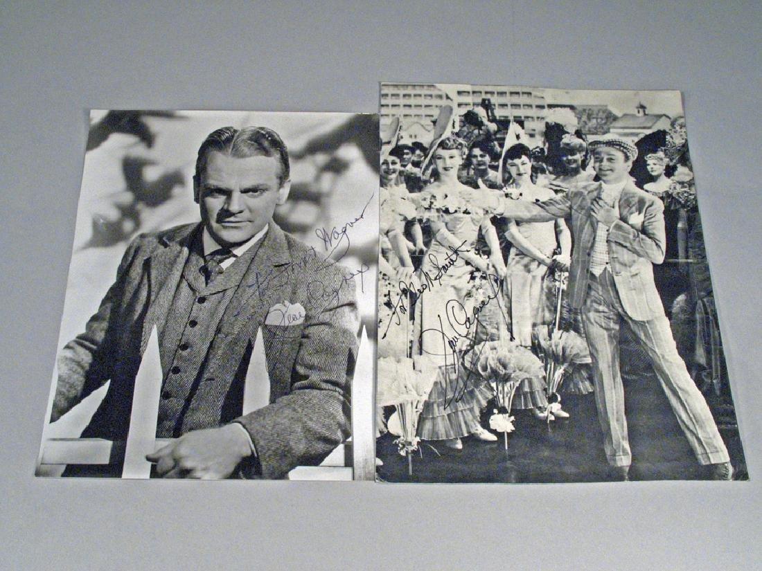 James Cagney Autograph Photo Lot