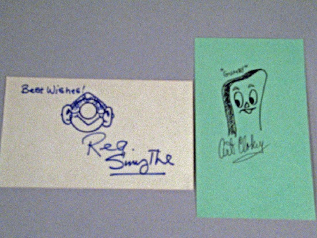 Gumby Autograph Cartoon Art Clokey, Andy Capp Reg