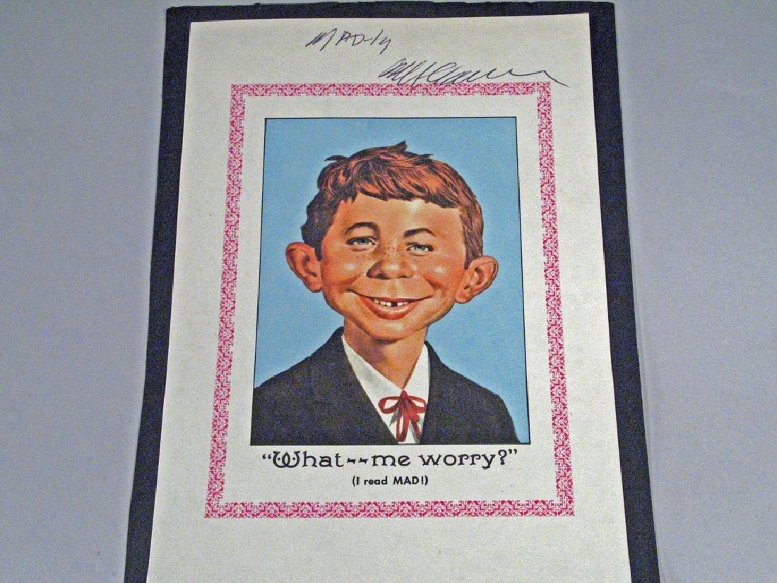 Mad Magazine Autograph William M Gaines