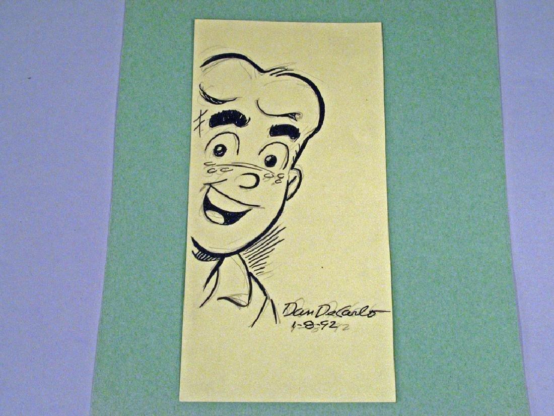 Archie Comics Hand Drawn Dan De Carlo Autograph