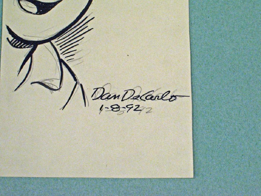 Archie Comics Hand Drawn Dan De Carlo Autograph - 2