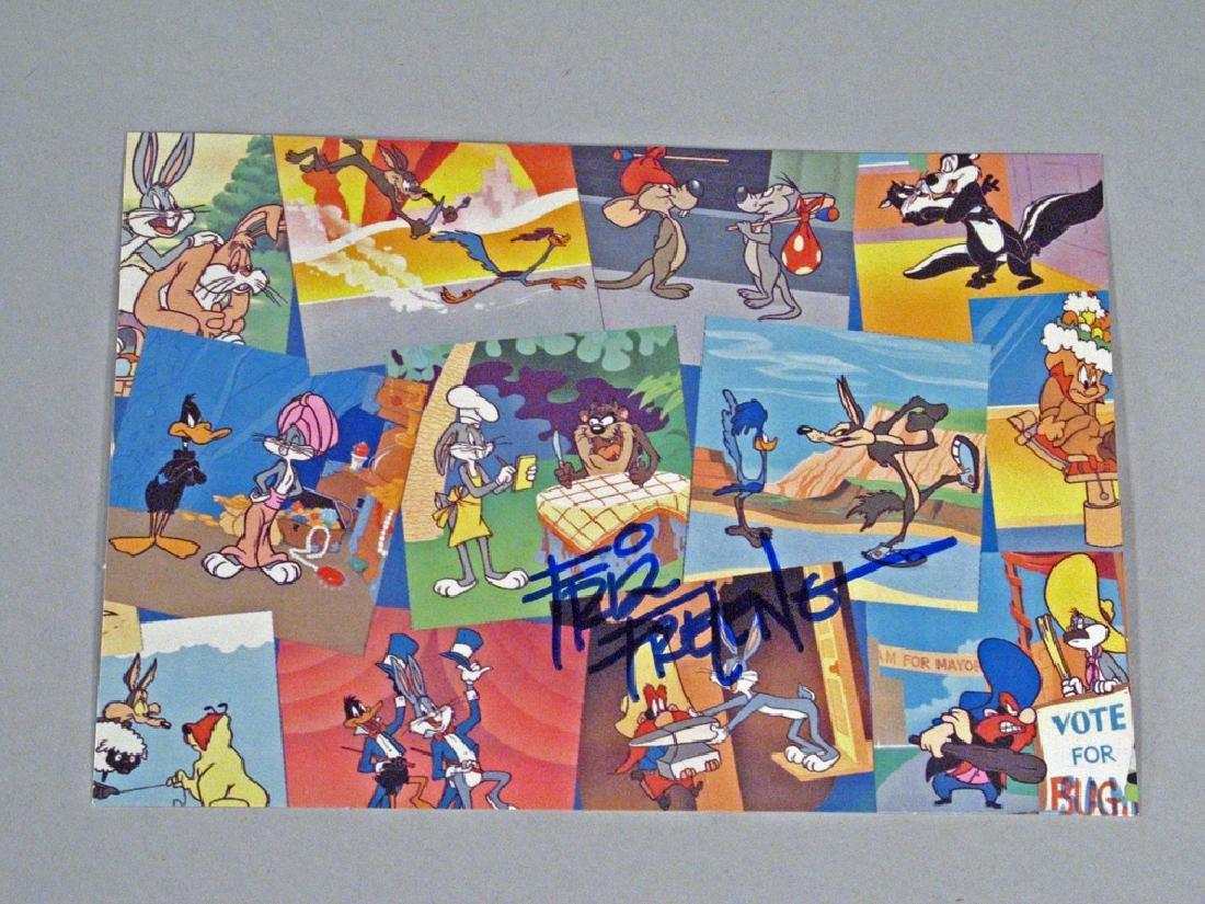 Fritz Freleng Autograph Warner Brothers Postcards