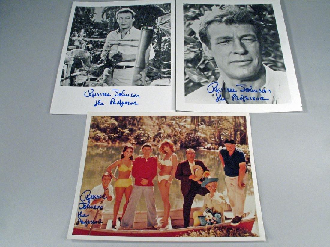 Giiligans Island Russel Johnson Professor Autograph Lot