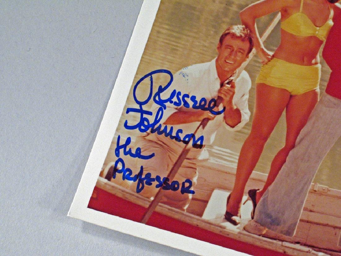 Giiligans Island Russel Johnson Professor Autograph Lot - 2