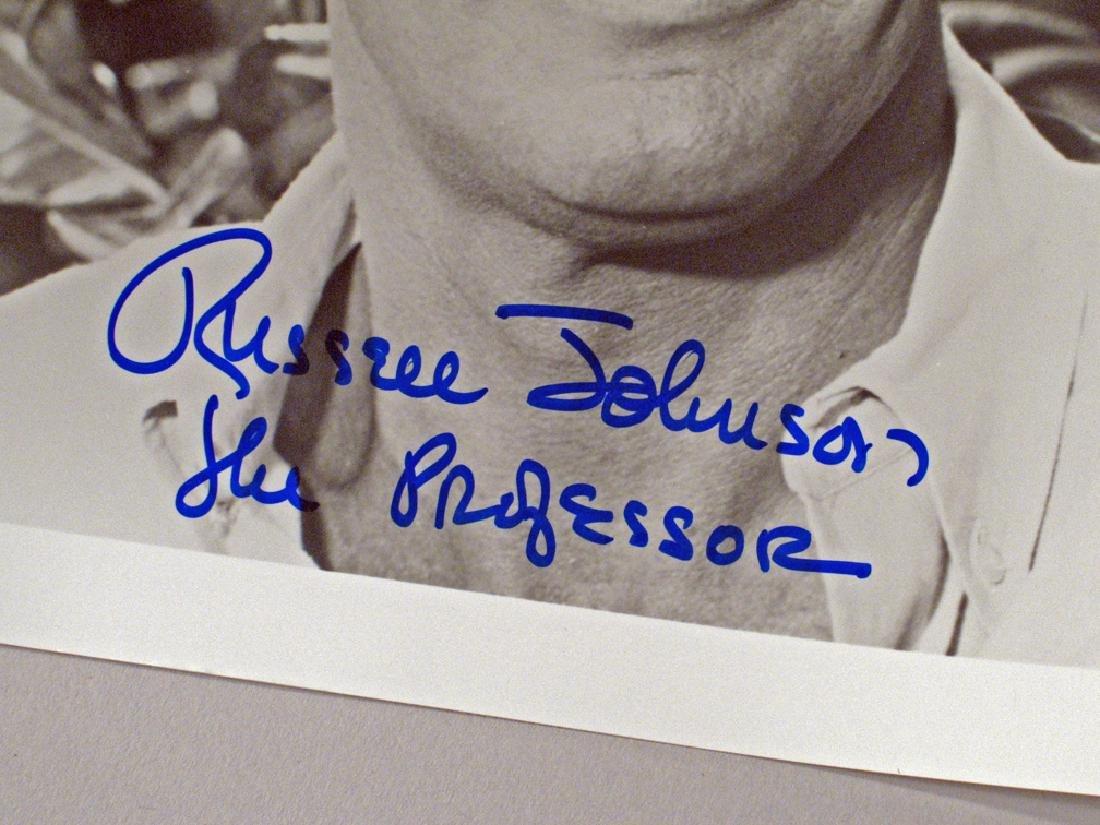 Giiligans Island Russel Johnson Professor Autograph Lot - 3