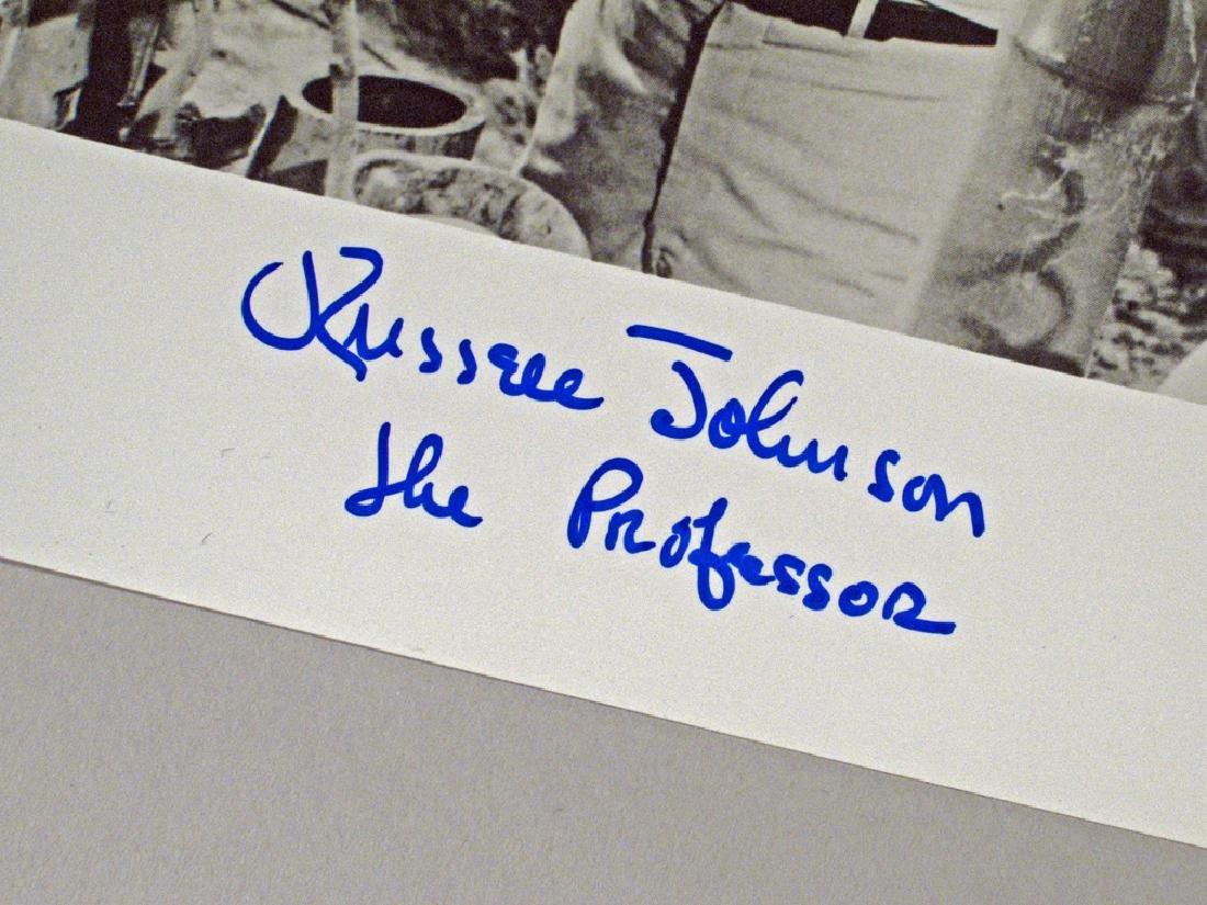 Giiligans Island Russel Johnson Professor Autograph Lot - 4