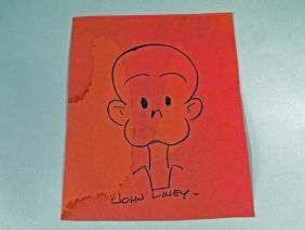 Henry Cartoon Hand Drawn John Liney Autograph