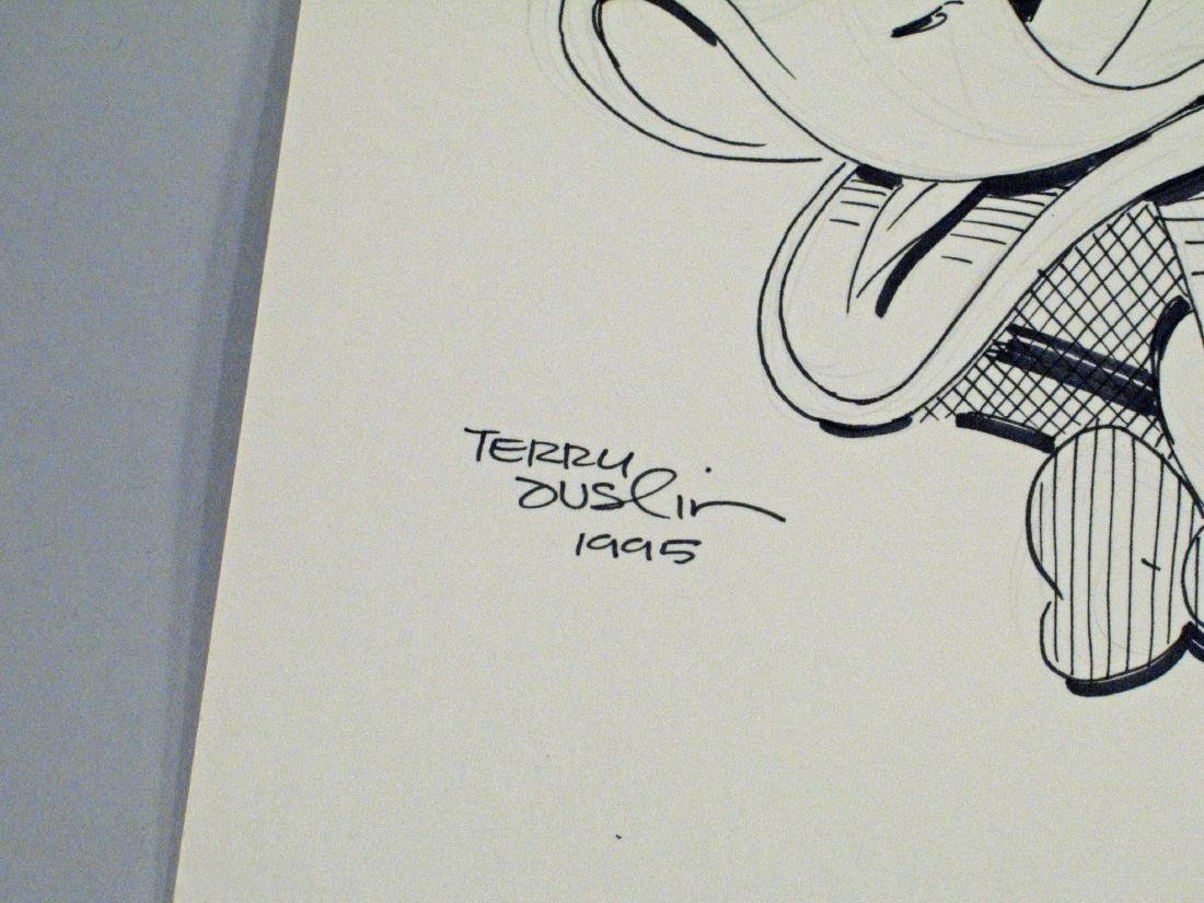 Cartoonist Terry Austin Donald Duck & Autograph - 2