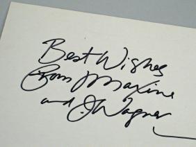 Maxine Cartoon John Wagner Autograph
