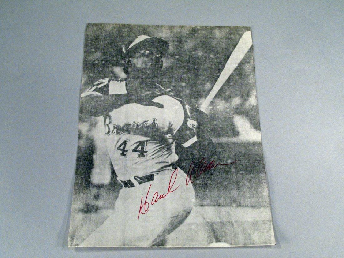 Hank Aaron Atlanta Braves Autograph