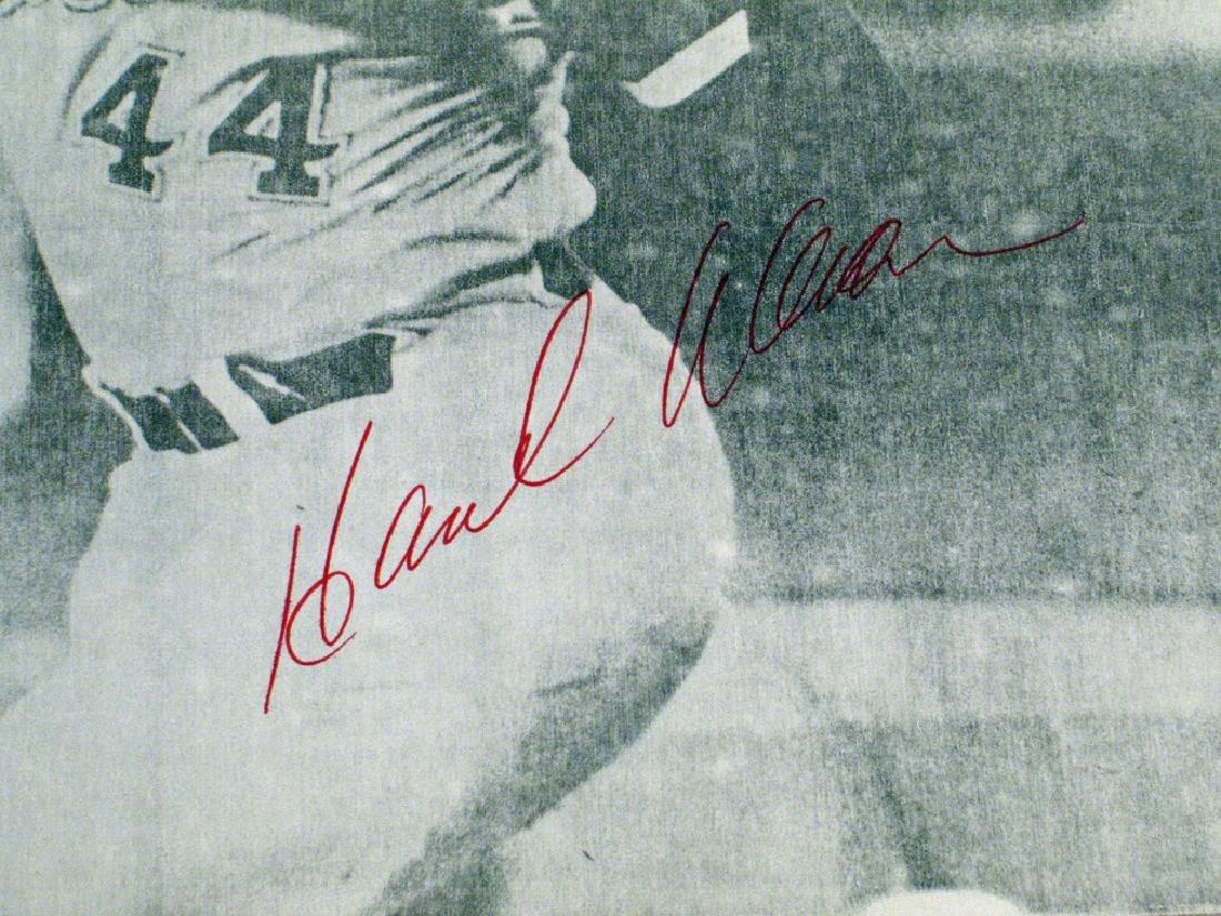Hank Aaron Atlanta Braves Autograph - 2