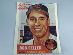 Bob Feller Autograph  Cleveland Indians