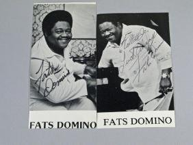 Fats Domino Autograph Lot