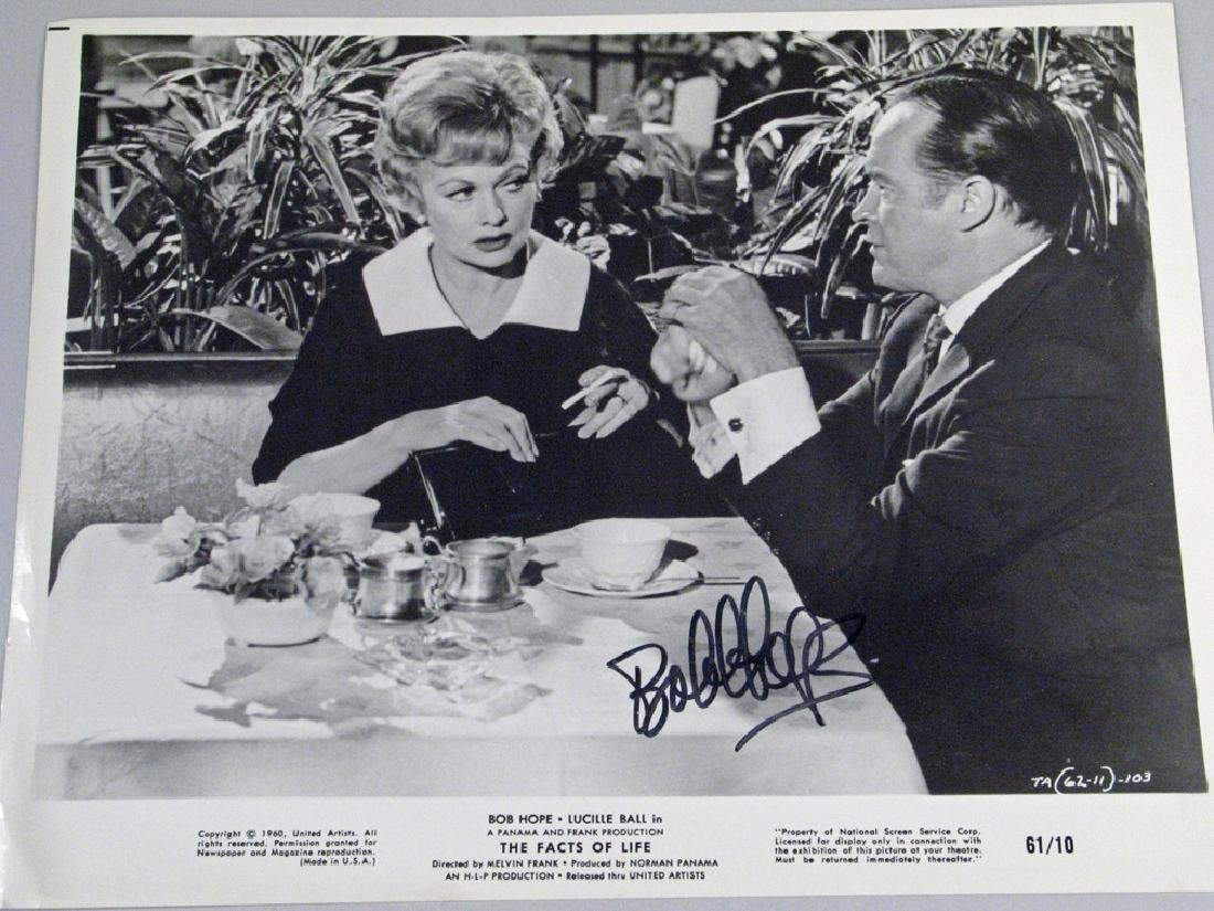 Bob Hope Autograph Movie Promo Still Lot