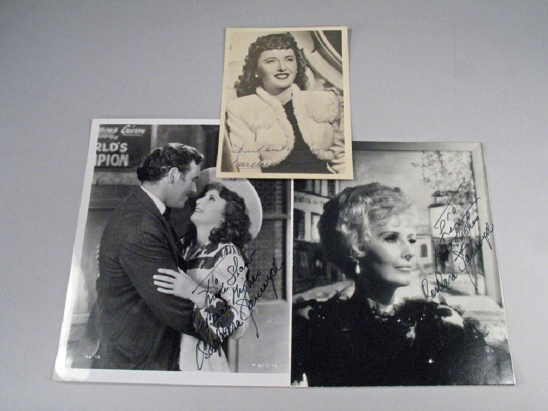 Barbara Stanwick Autograph Lot