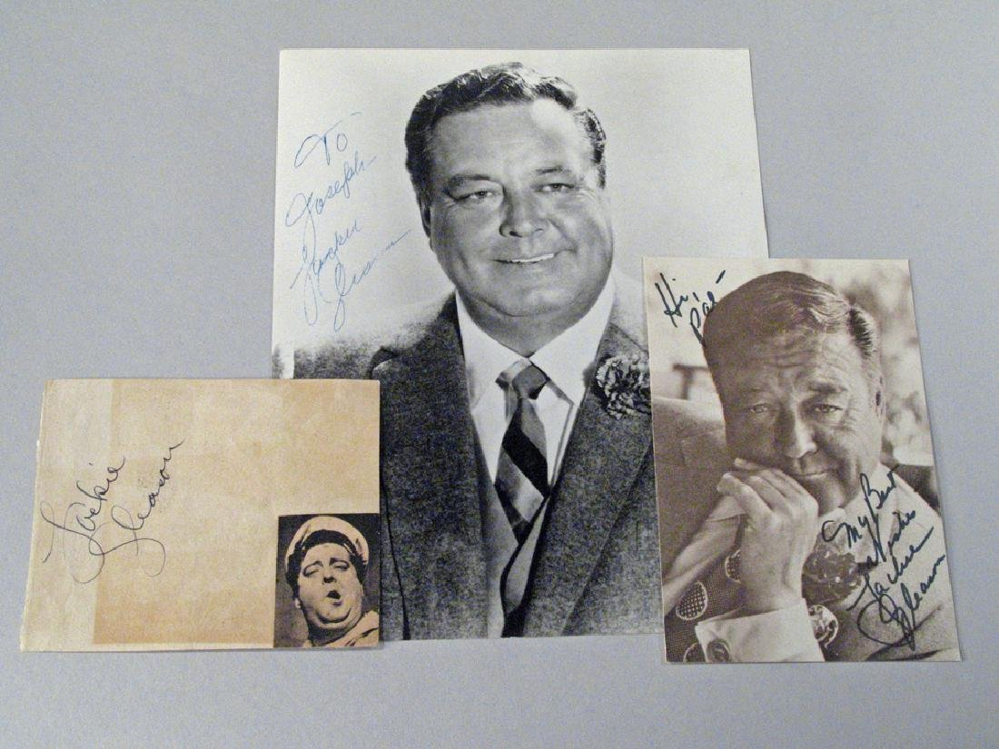 Jackie Gleason  Glossy Autograph Lot