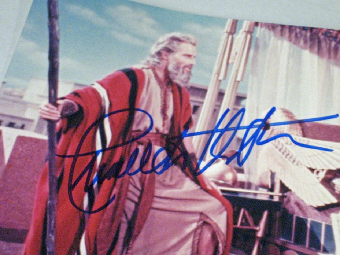 Charleton Heston Autograph Planet Apes, Moses Lot - 3
