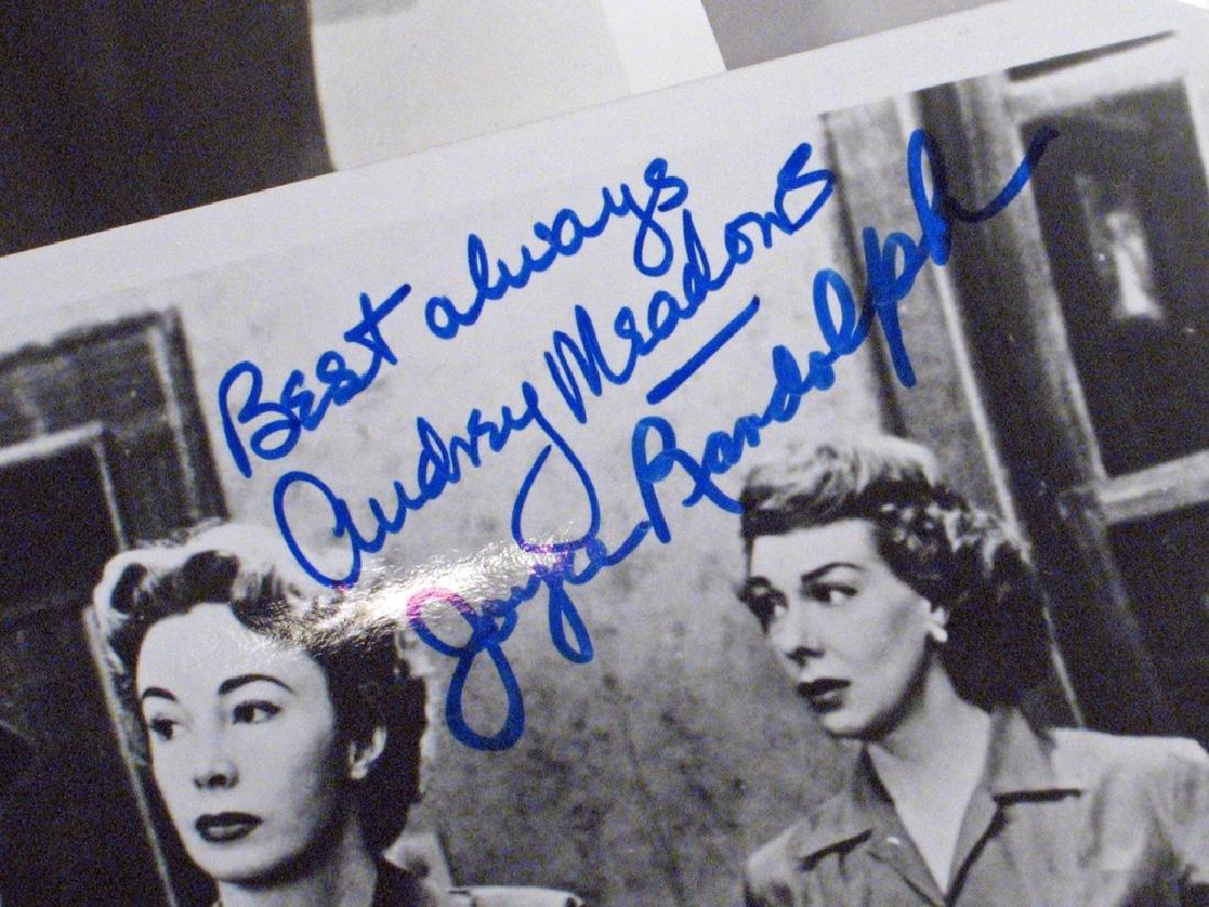 Honeymooners Art Carny, Audrey  Meadows Autographs - 3