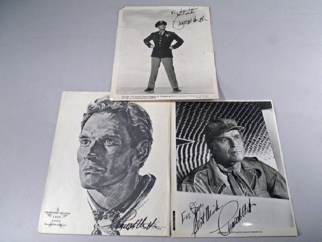 Charleton Heston Autograph Early Lot
